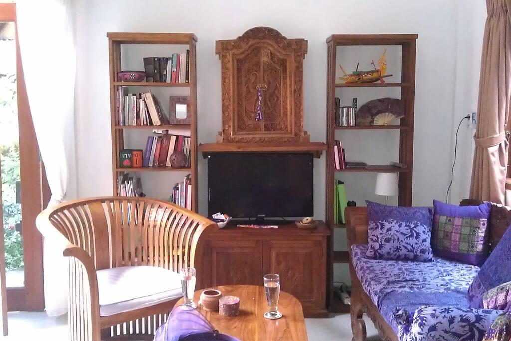 Living room with TV and DVD player