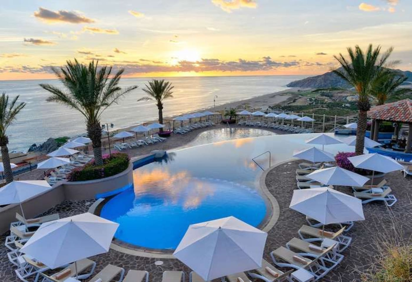 Pueblo Bonito Sunset view from the Sky Pool- glorious sunsets!