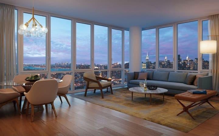 Comfy Couch 5 mins to Manhattan Amaze View Luxury