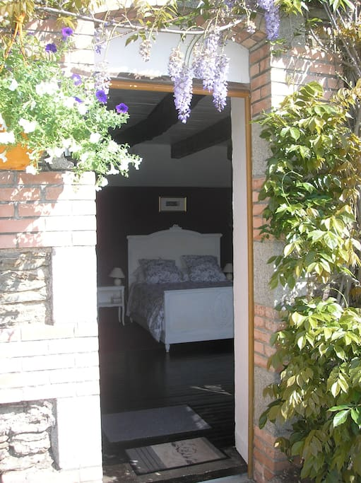 Entrance to guest bedroom on ground floor