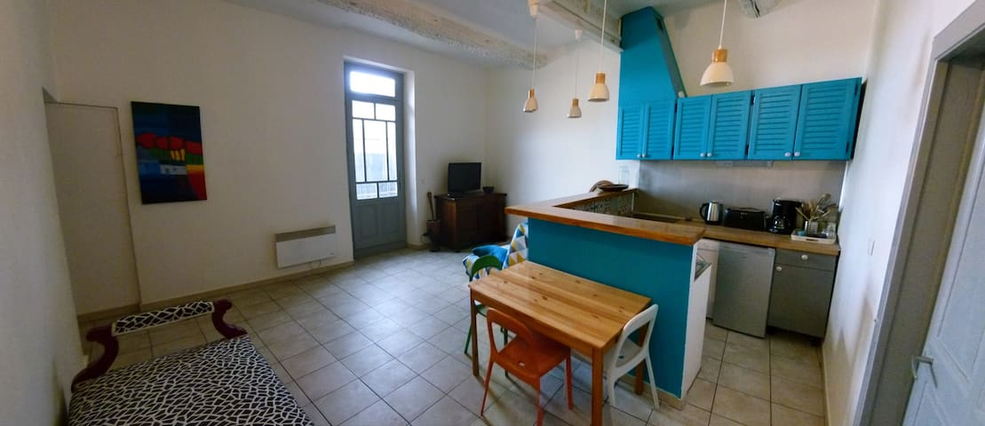 apartment near the river and the Pont-du-Gard.