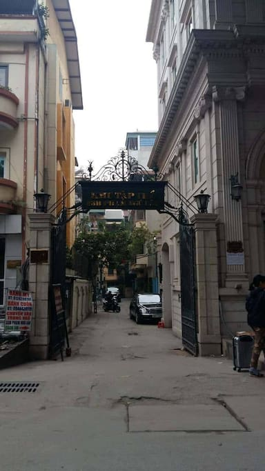 Main gate to the building