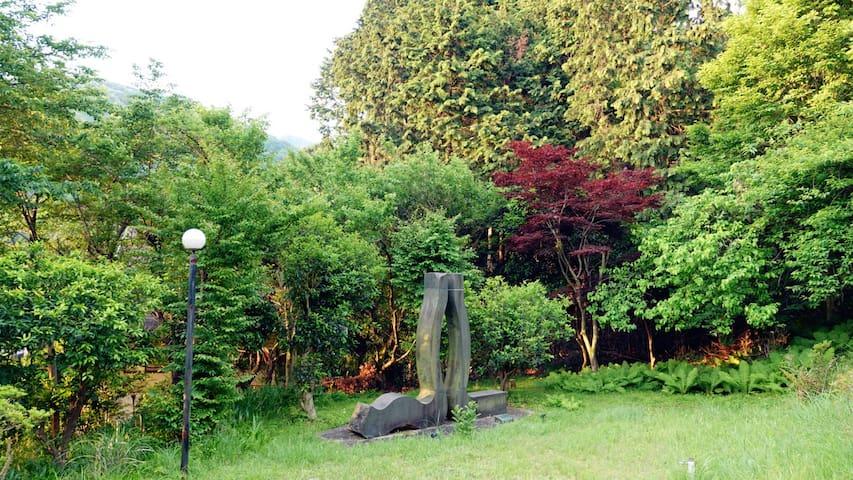猿楽温泉リゾート(温泉庄园)180°别墅海景洋式标间(3人间)
