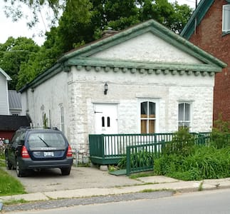 Quaint stone house near the St. Lawrence River