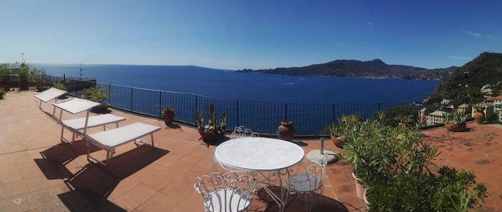 Vista super sul Golfo di Portofino