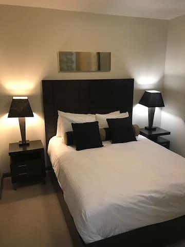 Queen size bed second bedroom