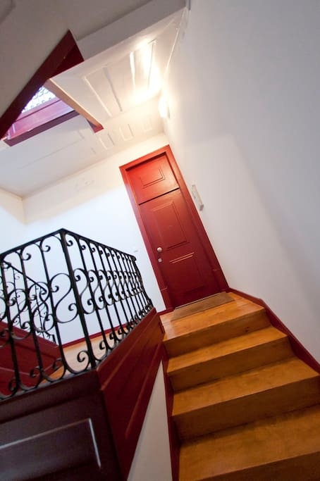 entrance door of the apartment-