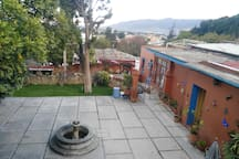 The apartment is located in a beautiful house with a two level garden that you can use for relaxing