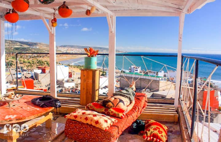 Taghazout TopFloor Apartment Overlooking the Beach
