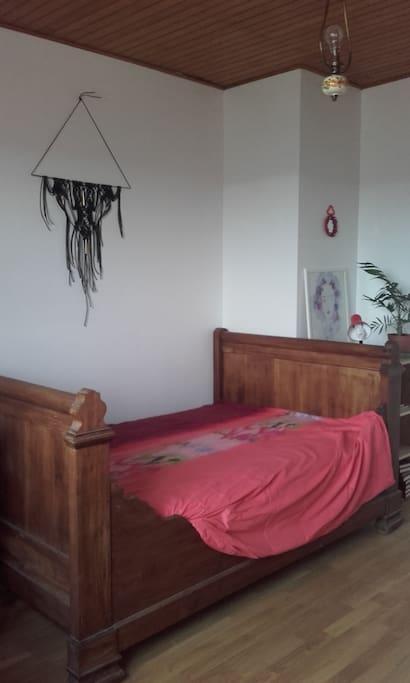 Chambre double lit bateau