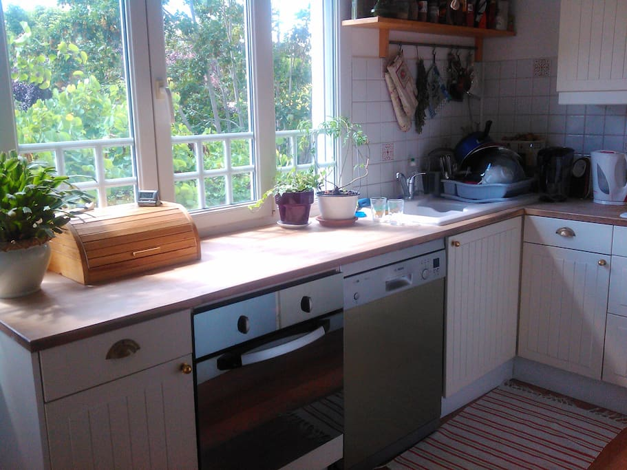 Sunny kitchen with everything you need to cook