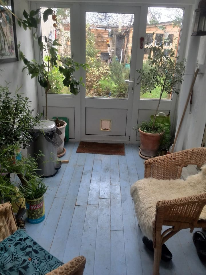 This is a lovely little space when the weather is not nice and you feel like you need to be closer to the outdoors.
