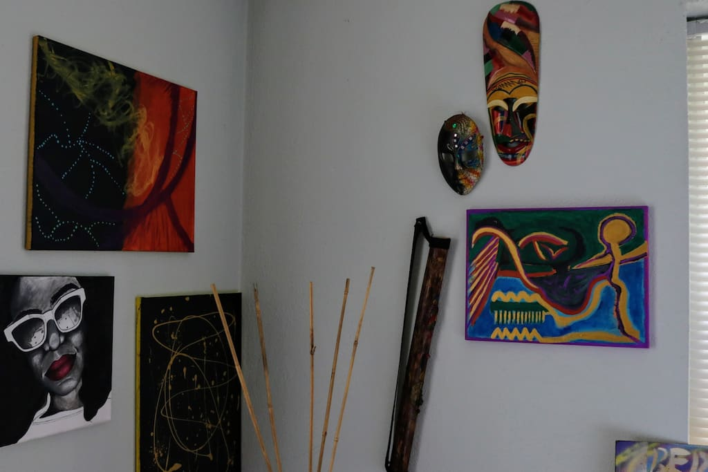 Our Living Room filled with original art