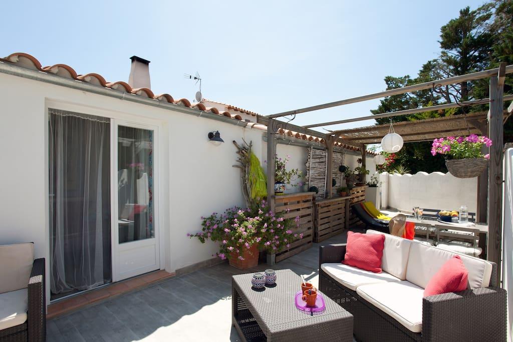 Jolie maison de vacances en camargue houses for rent in for Maison de camargue