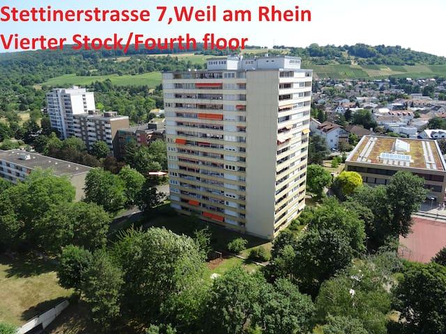 Weil am Rhein Appartement (bij Basel,Zwitserland)