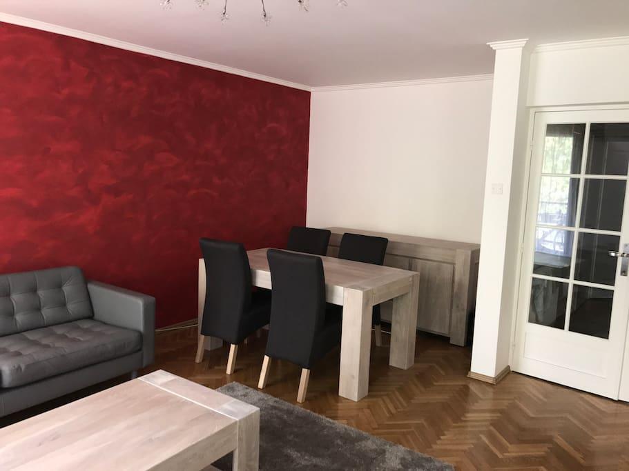Spacious, modern living room