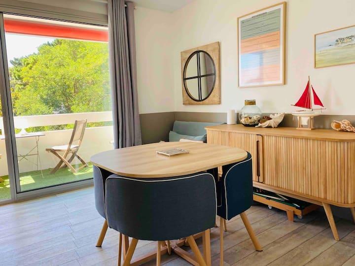 Studio La Baule, port du Pouliguen, plages, tennis