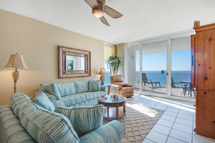 Corner Unit! Living Room and Master Bedroom Gulf View Plus Free Fun program included! Majestic
