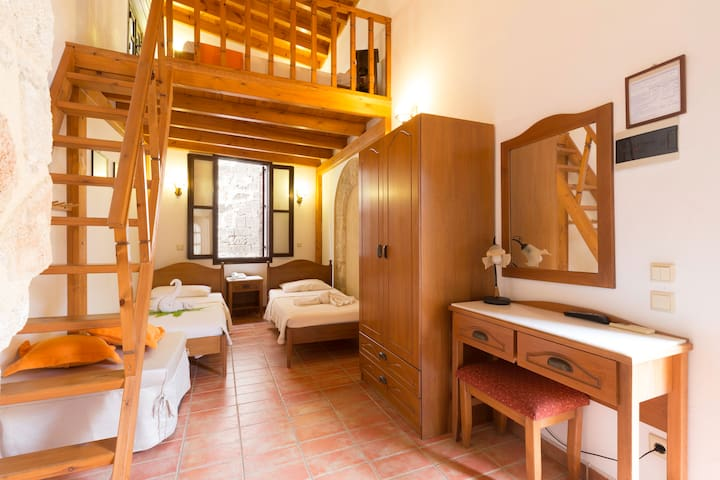 Family Suite with Balcony in Medieval Town