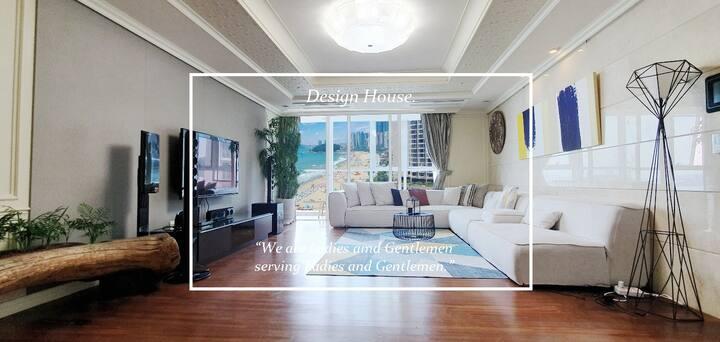 💯점 청결한 집. 🏖팔레드시즈 해운대 백사장오션뷰 하우스.#70평 디자인하우스.  🌉