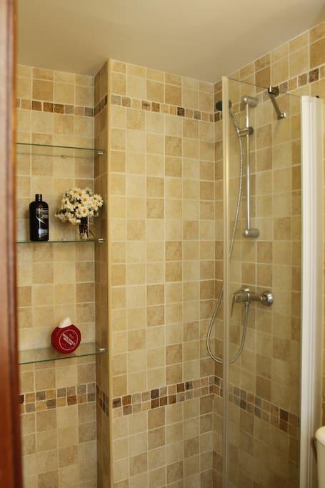 Placa de ducha del baño.