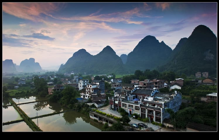 A Great Mountain and River View House in Yangshuo - Guilin - Casa