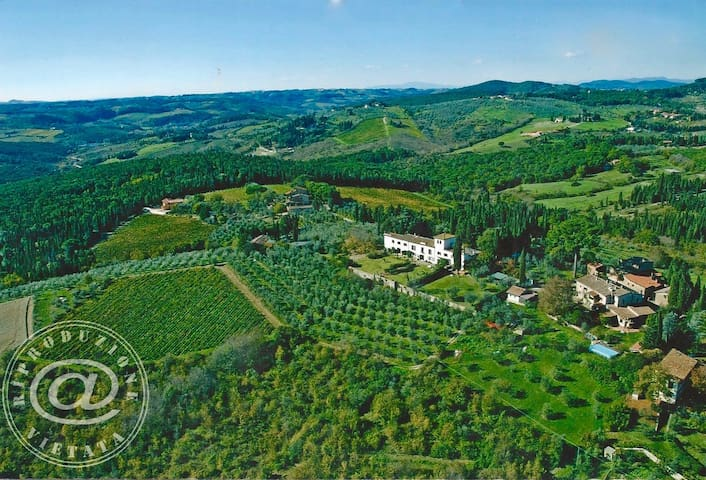 Villa in Chianti near Florence with stunning view! - Santa Cristina