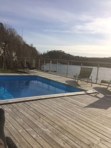 Apartment with shoreline and swimming pool - Bergen - Apartment