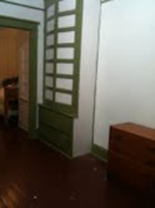 the middle room, with built in closet and drawers