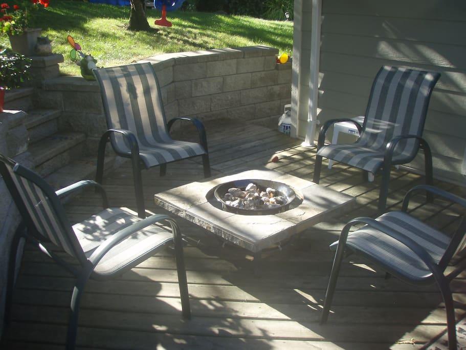 Enjoy the quiet sanctuary on the back deck