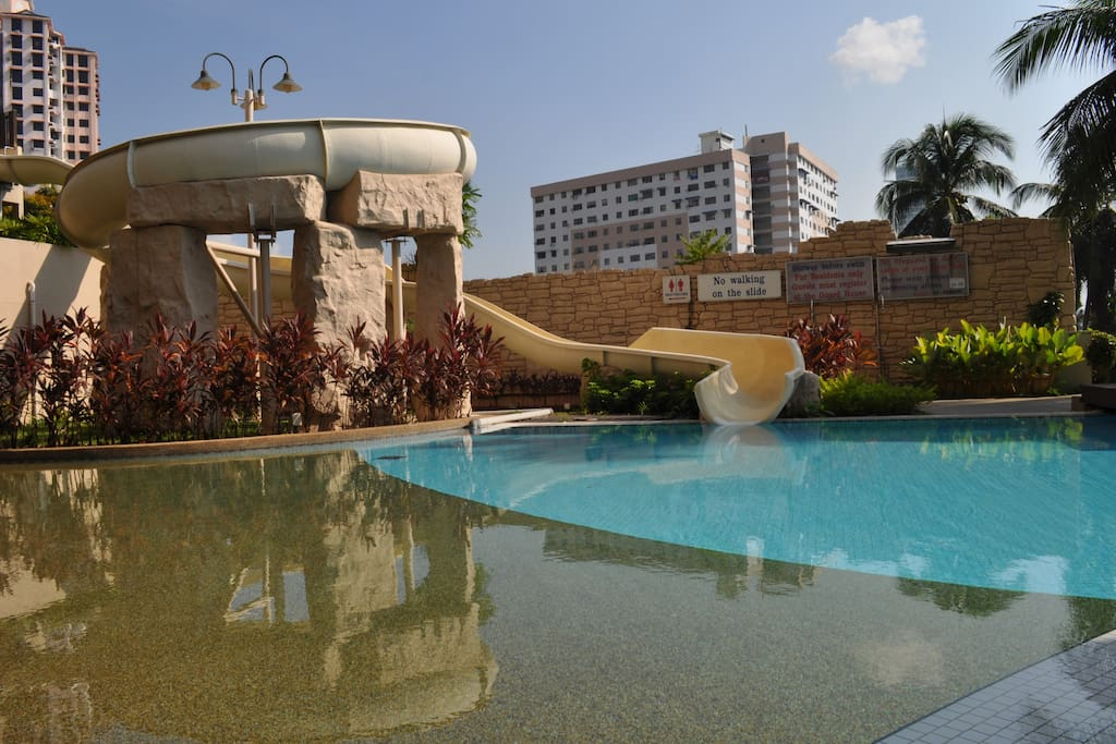 Swimming Pool and water slide