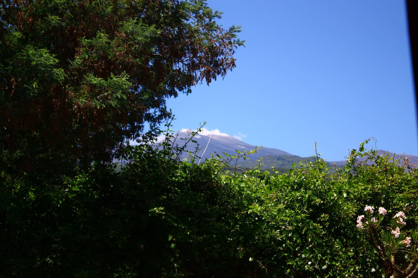 view of Etna from my house