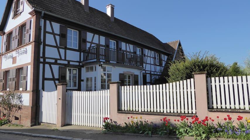 Gite maison alsacienne independante 120m2 renovée
