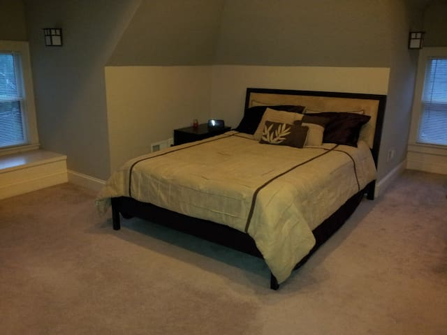 The master suite can be made available for larger groups