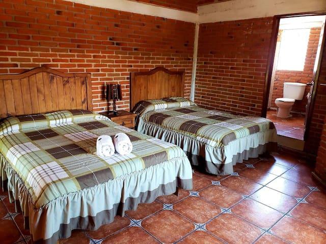 Habitación tipo cabaña 4 personas