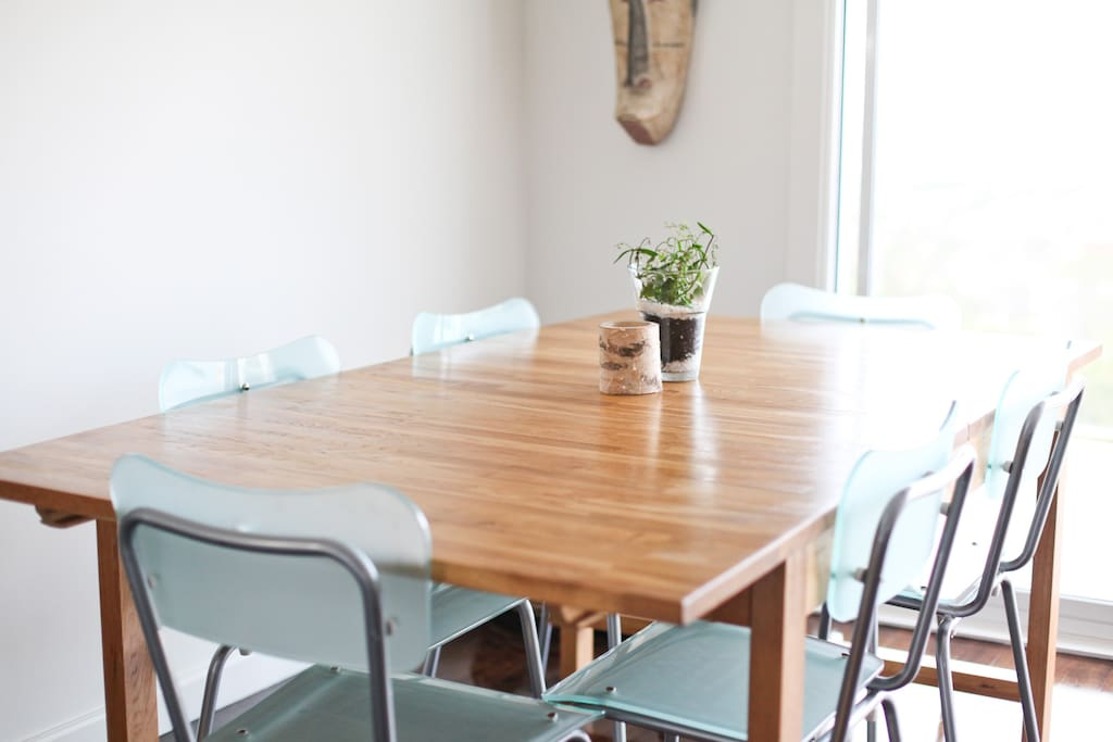 Designer table and chairs
