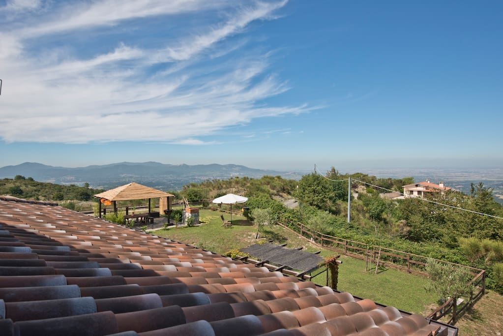 B&B with a stunning view above Rome