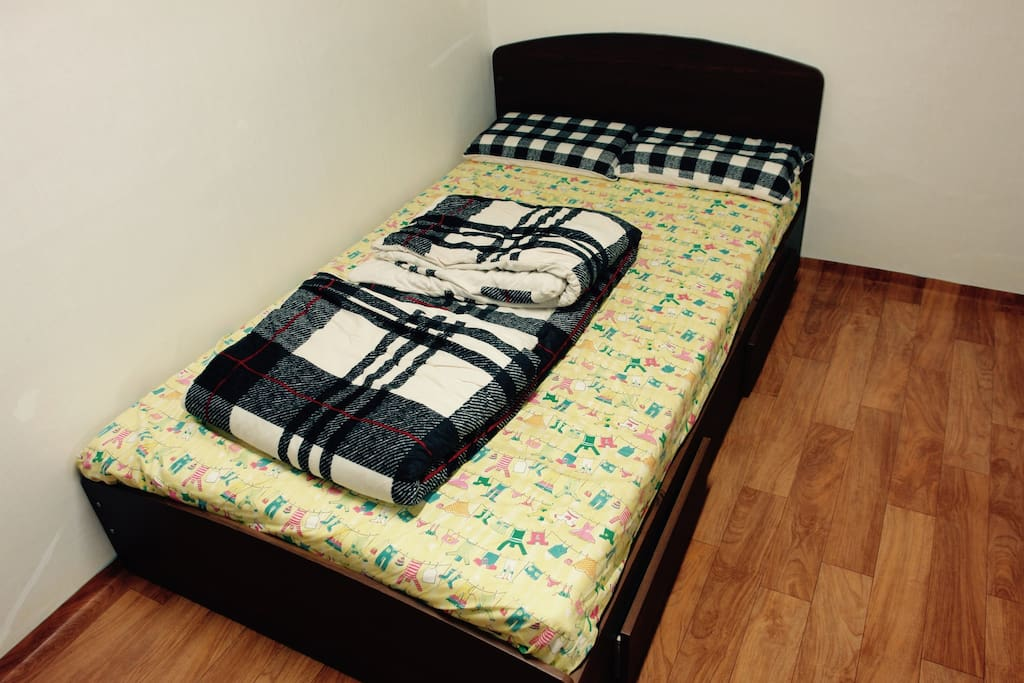 Double bed for two people