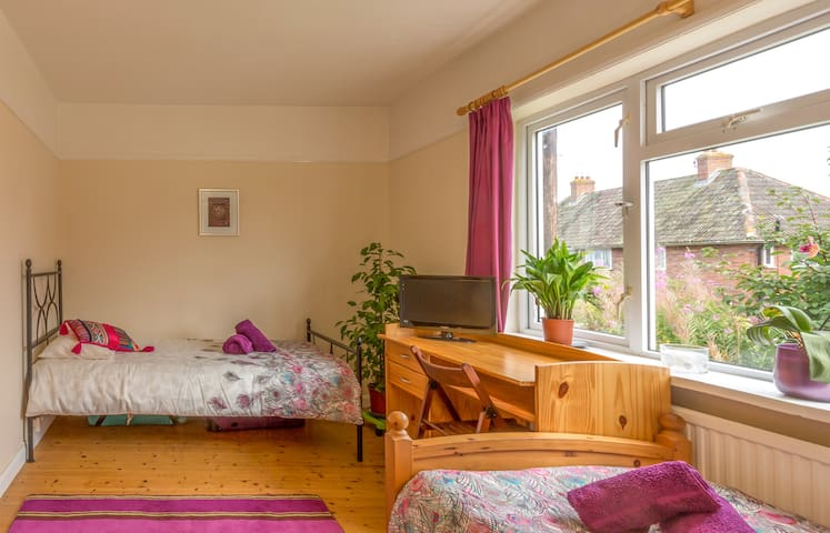 Wellbeing Breaks - Twin Room - Glastonbury - Lejlighed