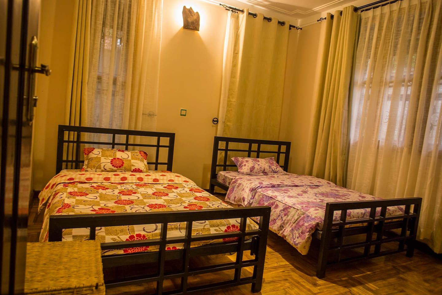 Self contained Twin Room 1. Accommodates two guests each on their own bed