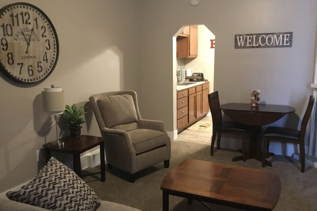 Living room with Table and Chairs for Work Space and Dining