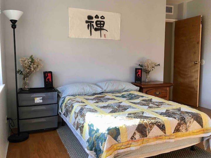 Large private  bedroom with private bathroom