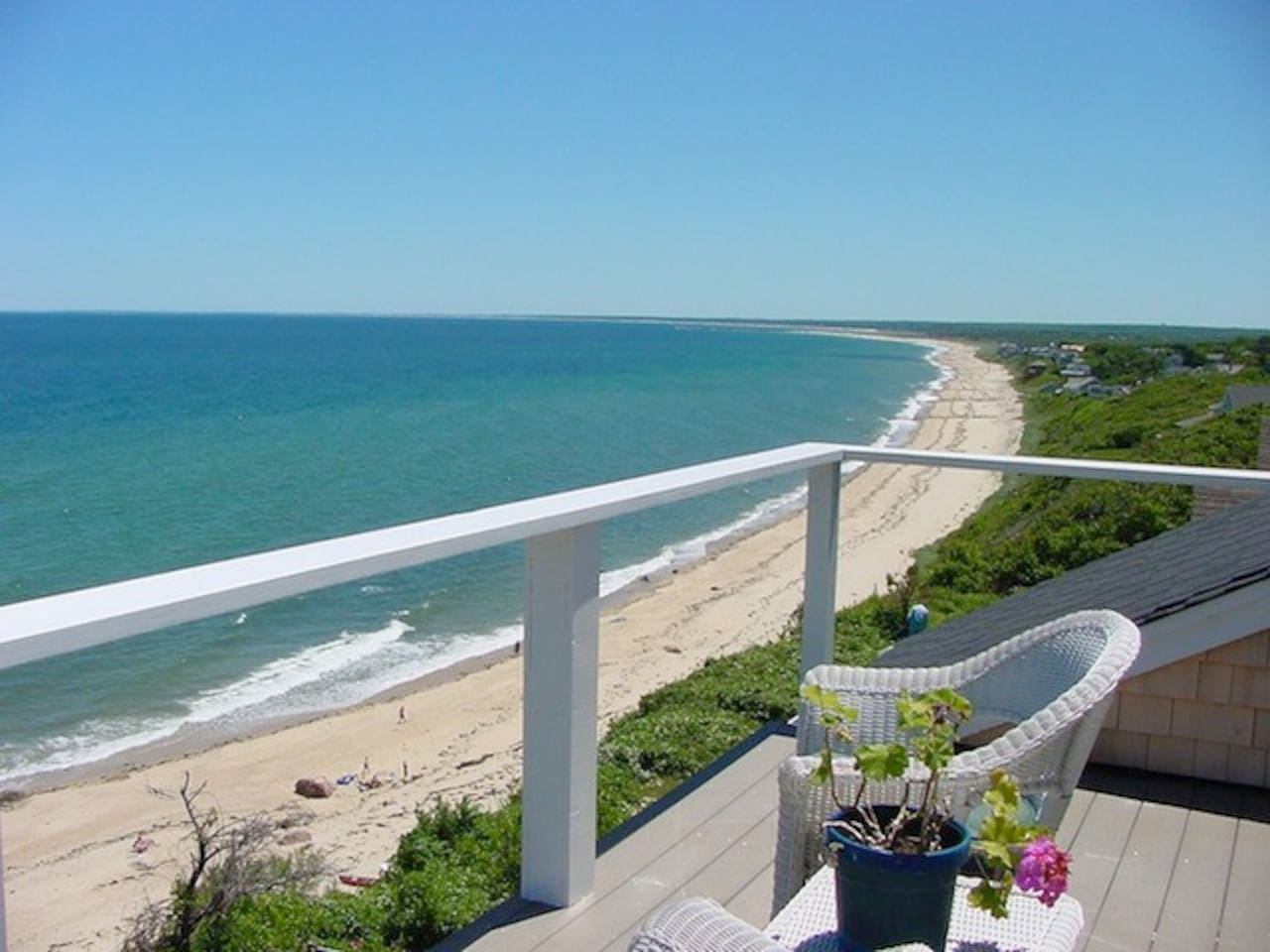 View from Sandbar room balcony toward Provincetown