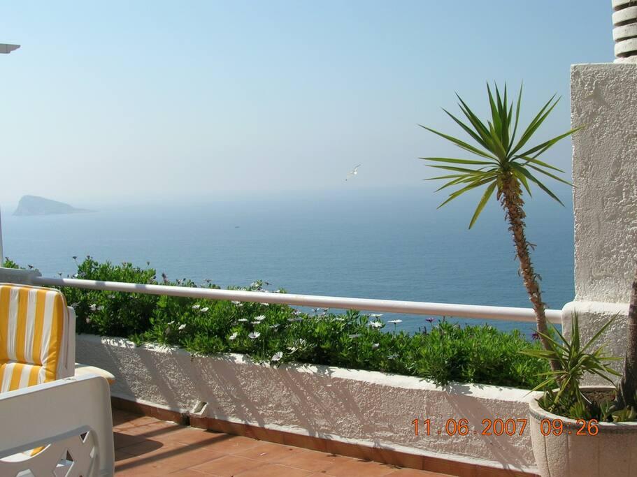 Impresionantes vistas desde la terraza.