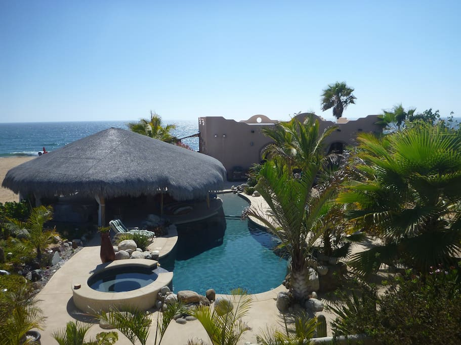 Baja beach getaway oceanfront pool houses for rent in todos los santos baja california sur - Impressive house with tranquil environment to get total relaxation ...