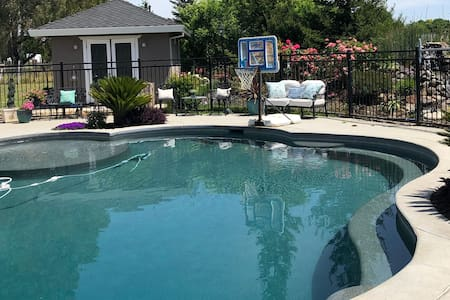 Charming & Private Pool Home with Private Entrance