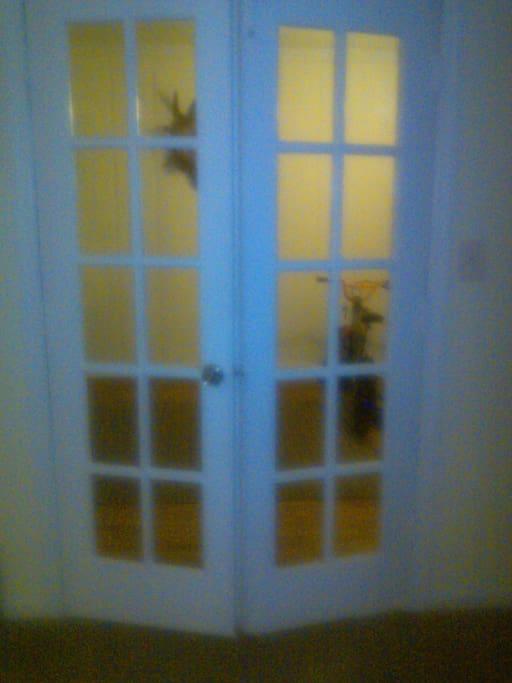 double door entrance