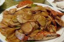 螃蟹炒年糕,舟山海鲜特产