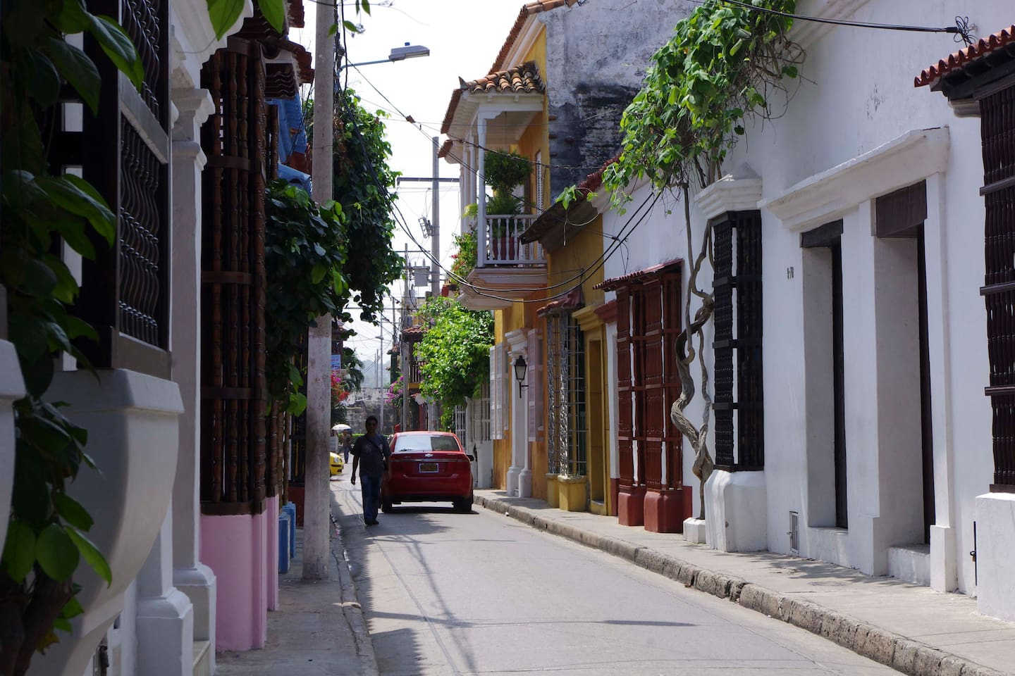 Calle Quero, we are the pink house on the left.