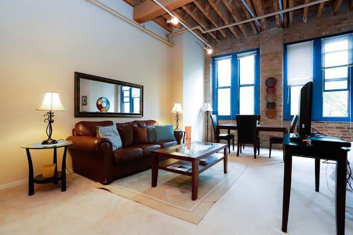 Beautifully furnished studio F409 - 시카고의 로프트에서 살아보기 ...